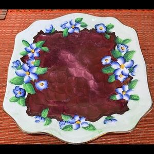 $20 SALE ☄️☄️MALING VINTAGE Cake Plate Colourful